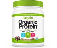 Orgain - Organic Vegan, Non-GMO Plant Based Protein Powder - Creamy Chocolate Fudge (1.02 LB)