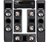 BIC America FH-6T Floorstanding Speakers, FH6-LCR, 5-Channel Home Theater System with Pioneer Elite VSX-LX304 Receiver
