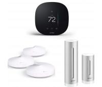 Smart Home Bundle - Netatmo Weather Station, NWS01-US + TP-Link Deco Whole Home Mesh WiFi System + ecobee3 lite Smart Thermostat, 2nd Gen, Black