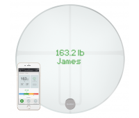 Qardio - QardioBase 2 Wireless Smart Scale and Body Analyzer - Arctic White