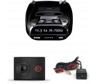 Uniden DFR7 Super Long Range Radar/Laser Detection GPS with Hardwire Kit + Garmin Dash Cam Tandem